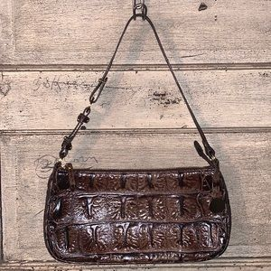 Brahmin Vintage Embossed Leather Shoulder Bag